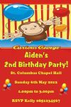 Personalised Curious George Invitations